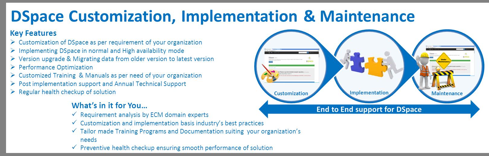 Dspace Customization Implementation & Maintenance